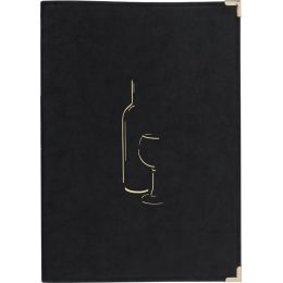 Securit Weinkarte CLASSIC, DIN A4, schwarz
