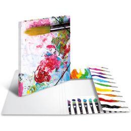 HERMA Eckspannermappe Farben, aus Karton, DIN A3