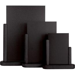 Securit Tischaufsteller ELEGANT, groß, schwarz