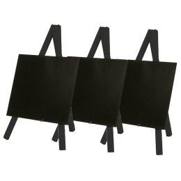 Securit Tisch-Kreidetafel MINI mit Staffelei, schwarz