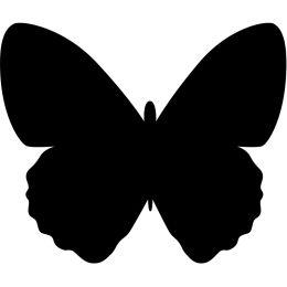 Securit Kreidetafel SILHOUETTE Schmetterling