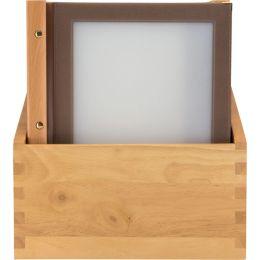 Securit Speisekarten-Mappe WOOD, DIN A4, 20er Box, braun