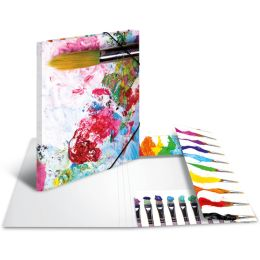 HERMA Eckspannermappe Farben, aus Karton, DIN A4