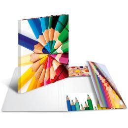 HERMA Eckspannermappe Stifte, aus Karton, DIN A4