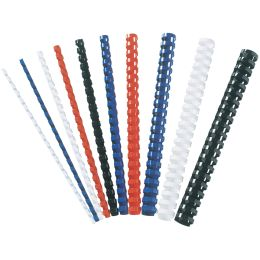 Fellowes Plastikbinderücken, DIN A4, 21 Ringe, 6 mm, schwarz