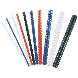 Fellowes Plastikbinderücken, DIN A4, 21 Ringe, 12 mm, weiß