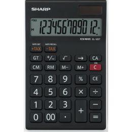 SHARP Tischrechner EL-125 TWH, Solar-/ Batteriebetrieb
