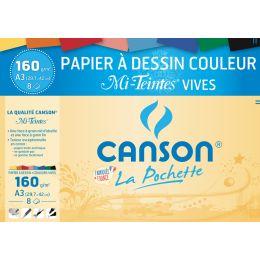 CANSON Zeichenpapier Mi-Teintes, DIN A3, leuchtende Farben