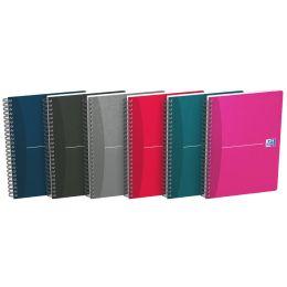 Oxford Office Spiralbuch, DIN A5, kariert, 90 Blatt, Karton