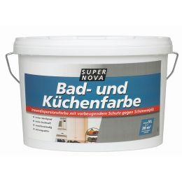 SUPER NOVA Schimmelschutzfarbe, weiß, 2,5 Liter