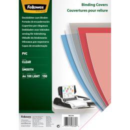 Fellowes Deckblatt, DIN A4, PVC, transparent, 0,15 mm