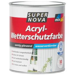 SUPER NOVA Acryl-Wetterschutzfarbe, weiß, 2,5 Liter