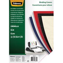 Fellowes Deckblatt Chromolux, glänzend, DIN A4, blau