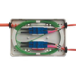 Telegärtner Micro-Spleißbox, 4 x SC Duplex Kupplung