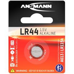ANSMANN Alkaline Knopfzelle LR44, 1,5 Volt (V13GA)