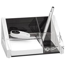 WEDO Utensilienständer acryl exklusiv, glasklar/schwarz