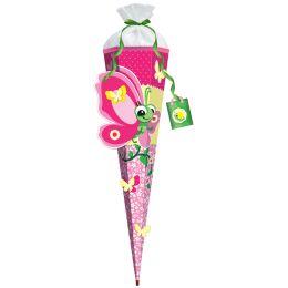 ROTH 3D-Schultüten-Bastelset Schmetterling Lilly, 6-eckig