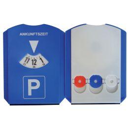 uniTEC Multifunktions-Parkscheibe, aus Kunststoff, blau