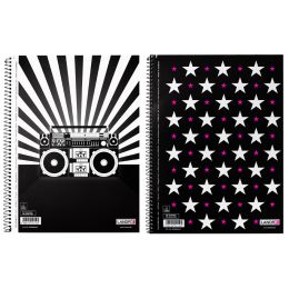 LANDRÉ Collegeblock MUSIC & STARS, DIN A4, liniert, 80 Blatt