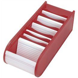 WEDO Lernkartei, DIN A8 quer, inkl. 100 Karteikarten, rot
