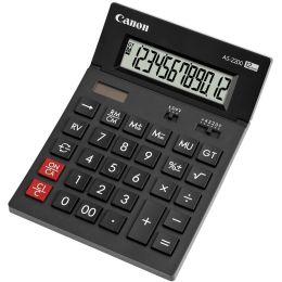 Canon Tischrechner AS-2200, Solar-/ Batteriebetrieb