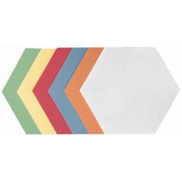 FRANKEN Moderationskarte, Wabe, 190 x 165 mm, sortiert