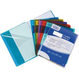 ELBA Heftschoner DIN A4, aus PVC 0,22 mm, farblos tranparent
