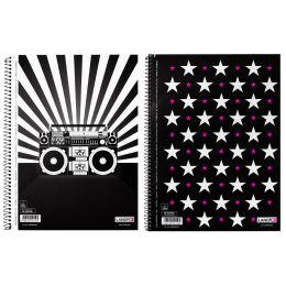 LANDRÉ Collegeblock MUSIC & STARS, DIN A5, liniert, 80 Blatt
