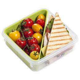 emsa Sandwichbox CLIP & GO, 0,85 Liter, transparent / grün