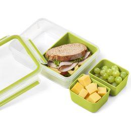 emsa Snackbox CLIP & GO, 0,55 Liter, transparent / grün
