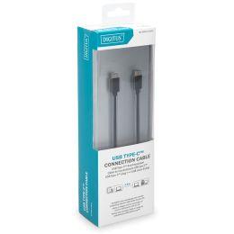DIGITUS USB 2.0 Kabel, USB-C - Micro USB-B Stecker, 1,8 m