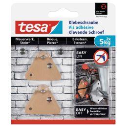 tesa Klebeschraube für Mauerwerk, dreieckig, 5,0 kg