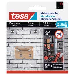 tesa Klebeschraube für Mauerwerk, rechteckig, 2,5 kg