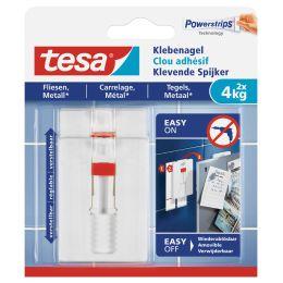 tesa Powerstrips Klebenagel für Fliesen und Metall, 4,0 kg