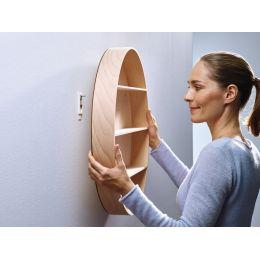 tesa Powerstrips Klebeschraube für Tapete/Putz, weiß