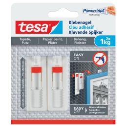tesa Powerstrips Klebenagel für Tapete und Putz, 1,0 kg