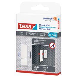 tesa Powerstrips Klebestreifen für Tapete/Putz, transparent