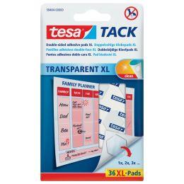 tesa TACK Klebepads XL, transparent, beidseitig klebend