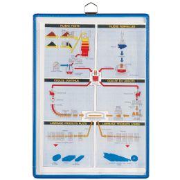 tarifold t-view Notizhalter, DIN A4, blau