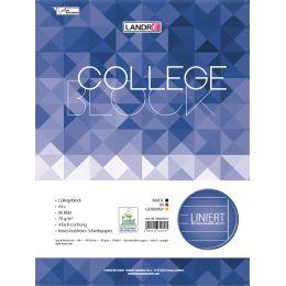 LANDRÉ Collegeblock college DIN A4, liniert, 80 Blatt
