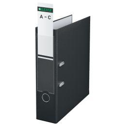 LEITZ Ordnerrücken-Einsteckschild, 56 x 190 mm, Karton, grau