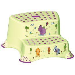 keeeper kids Tritthocker igor hippo, zweistufig, grün