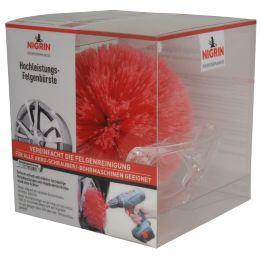 NIGRIN Hochleistungs-Felgenbürste, rot