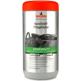 NIGRIN Kunststoff-Pflegetücher seidenmatt, Spenderbox