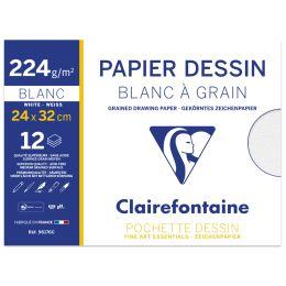 Clairefontaine Zeichenpapier Blanc à Grain, 240 x 320 mm