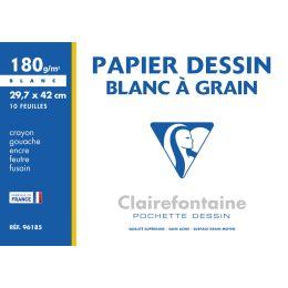 Clairefontaine Zeichenpapier Blanc à Grain, 297 x 420 mm