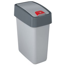 keeeper Abfalleimer magne, 10 Liter, silber / grau