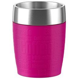 emsa Isolierbecher TRAVEL CUP, 0,20 L., Manschette pink
