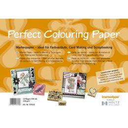 transotype Marker Papier DIN A4, 250 g/qm, 10 Blatt