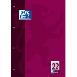 Oxford Arbeitsblock, DIN A4, 50 Blatt, Lineatur 2